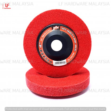 """4"""" PTN NON WOVEN DISC RED"""